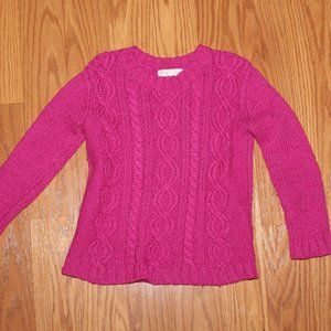 3/$15 girls 5/6 Magenta cable knit sweater